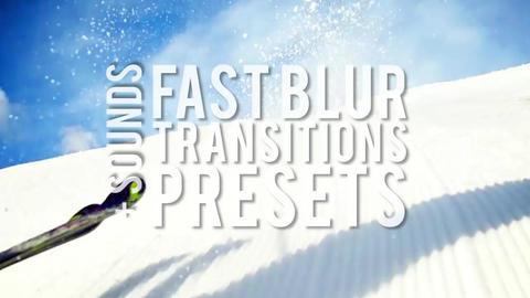 Fast Blur Transitions Presets Premiere Pro Template