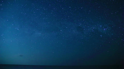 timelapse starry sky and sea Archivo