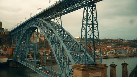 Porto, circa 2018: Timelapse Rising on the funicular Guindais Funicular, Porto Footage
