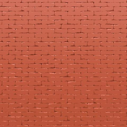 Red brick wall 3D render Photo