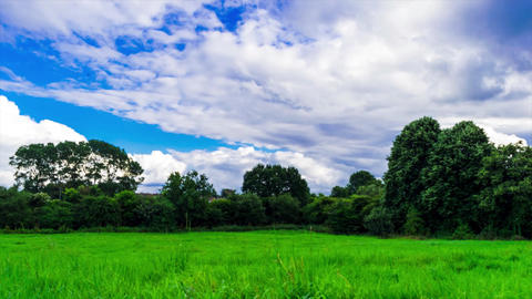 movement of clouds over Wyken Croft park Time lapse. High quality Footage Footage
