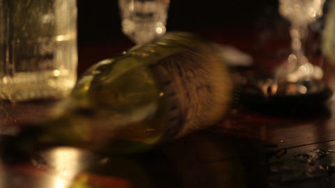 Rotating bottle Footage