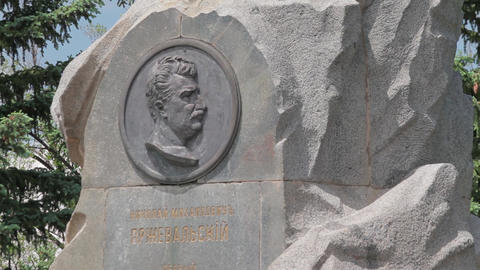 Monument at the tomb of Przhevalsky ビデオ