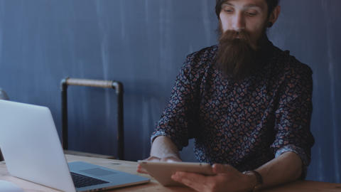 Hipster using notepad Footage
