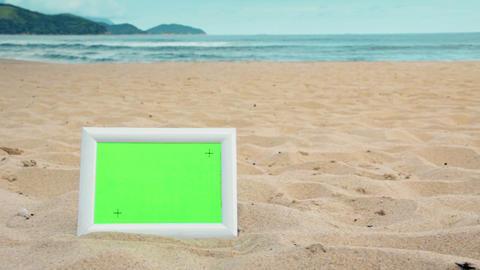 Green Screen Beach Frames 2