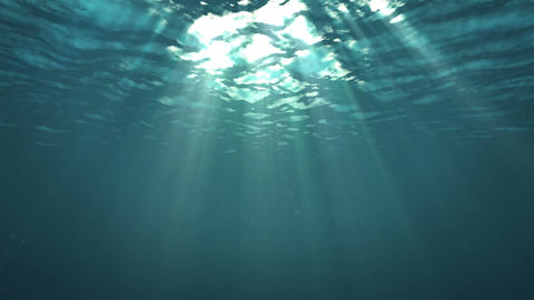 Light through the surface of the water GIF
