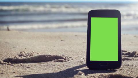 Green Screen Sunny Beach Smart Phone Live Action