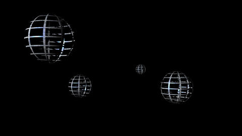 Abstract spheres on the black background Animation