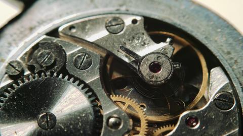 Watch mechanism macro Footage