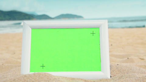 Green Screen Sunny Beach Frame ビデオ