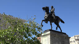 USA Maryland Baltimore La Fayette equestrian statue at Mount Vernon Footage