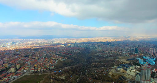 Aerial view city of Ankara Footage