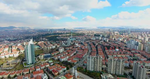 Aerial view to Capital of Turkey Ankara Footage
