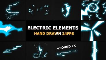 Dynamic ELECTRIC Elements After Effects Template