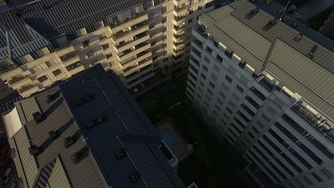 Aerial drone scene of city landscape Stock Video Footage