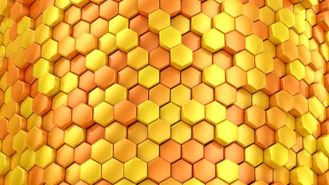 Background of Hexagons 動画素材, ムービー映像素材