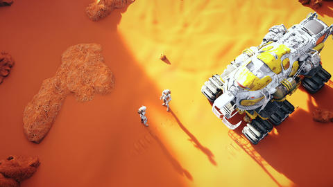 Astronauts on a Mars arguing after the planet... 動画素材, ムービー映像素材