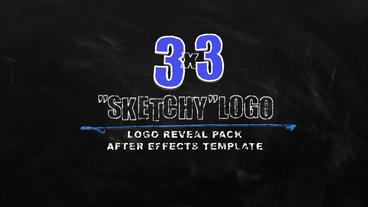"Logo Reveal Pack ""Sketchy"". Hand drawing logo reveal, text logo reveal After Effectsテンプレート"