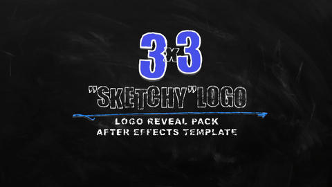 "Logo Reveal Pack ""Sketchy"". Hand drawing logo reveal, text logo reveal After Effects Template"