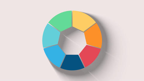 Round, circle chart, graph representation layout for options or steps Info After Effects Template