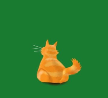 Back of Cat, Stock Animation