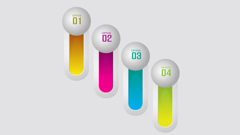 Vertical colorful bars concept for steps or options After Effectsテンプレート