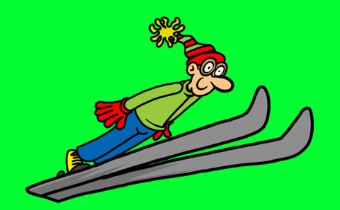 Ski Jumper Animation