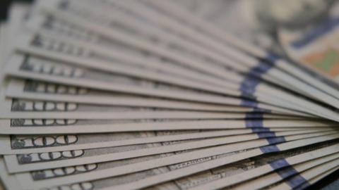 American hundred dollar bills Footage