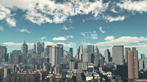 4k,Update the informative to cloud,download data to modern urban,internet icons Live Action