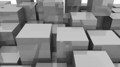 4k,abstract 3d metal cubes animation background Live Action