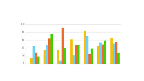 4k Business Data Graph,Financial figures and diagrams showing increasing profits Live Action