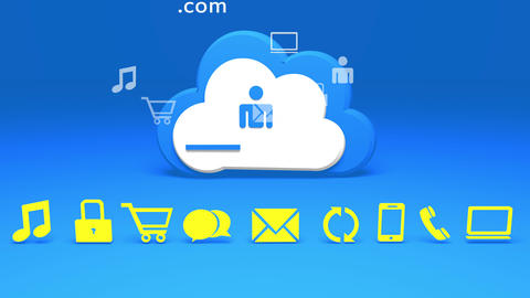 4k,Cloud computing connection concepts,internet concept,on-line services icon Footage