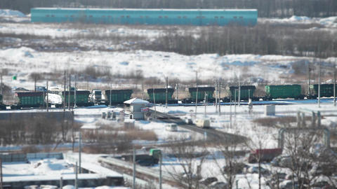 freight train view from above Footage