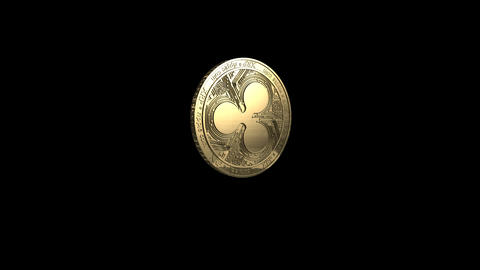 Rotating Ripple Coin Gold Animation
