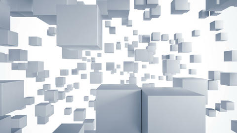 Abstract background with cubes. Loop able animation Footage