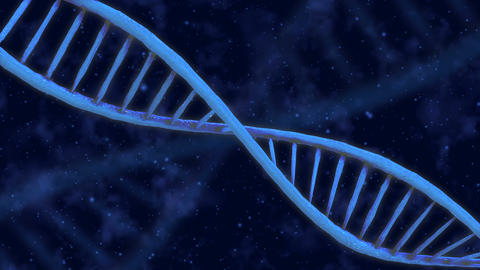 Blue DNA double helix rotation. Multi purpose video background Animation