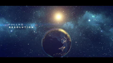 Earth Planet Titles After Effects Template