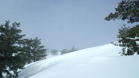 Sky over snowy hill Image