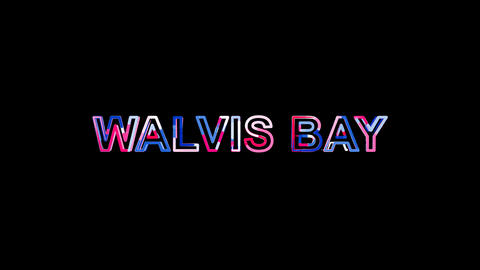 Letters are collected in city WALVIS BAY, then scattered into strips. Bright Animation