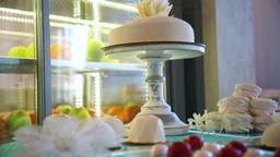 Sweet cake, sweets, dessert, fruit, sweets on the table Footage