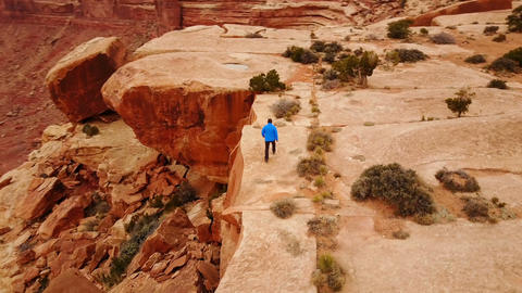 Hiking in Utah Along The Edge of Amazing Rock Formations Image