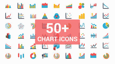 50+ Chart icons After Effects Template