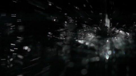 Water drop making splash Footage
