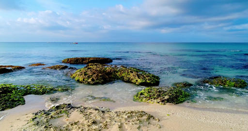video aerial shot sea scenery Live Action