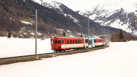 Train in Switzerland Footage