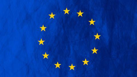 European union flag grunge video animation Animation