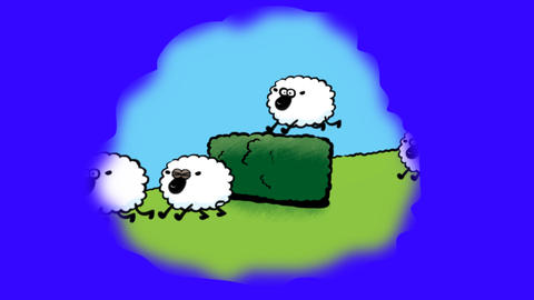 Counting Sheep Stock Video Footage