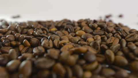 Adult man hands holding coffee grains - Inside close up... Stock Video Footage