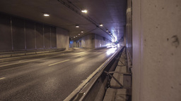 Traffic Timelapse In A Street Tunnel Dresden Germany Footage