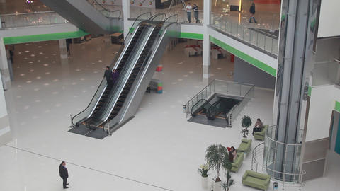 Lot Of People In Shopping Centre stock footage